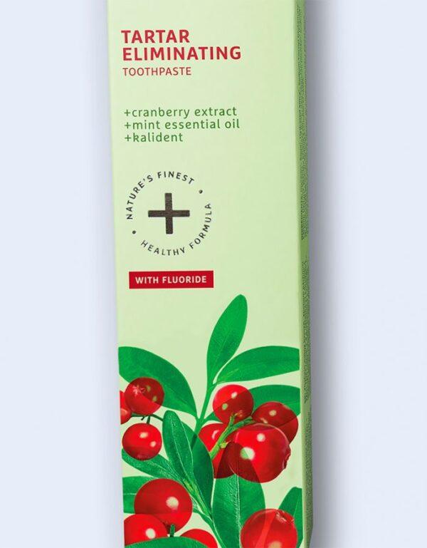 Pasta de dinti 2 in 1, anti-tartru, cu efect racoritor cu extract de coacaze si Kalident, Ecodenta, 100ml