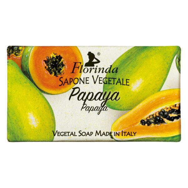 Sapun vegetal cu papaya Florinda, 100 g La Dispensa