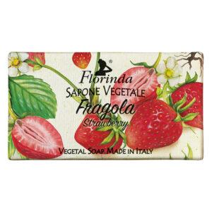Sapun vegetal cu capsuni Florinda, 100 g La Dispensa