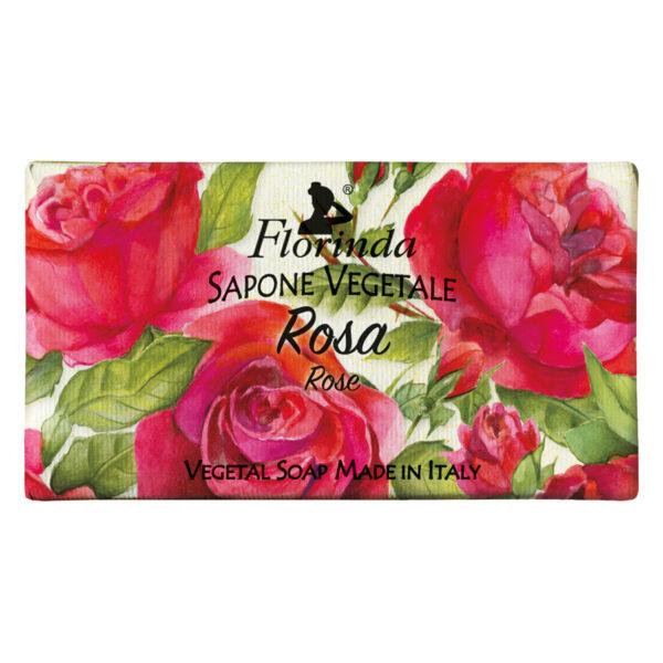 Sapun vegetal cu trandafiri Florinda, 100 g La Dispensa