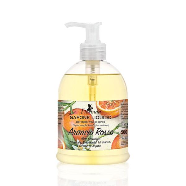 Sapun lichid vegetal hidratant cu portocale rosii si ulei de Jojoba, Florinda, 500 ml La Dispensa