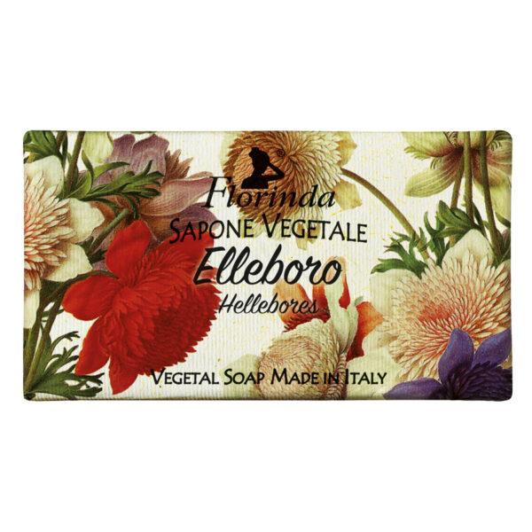 Sapun vegetal cu flori de Elleboro Florinda, 100 g La Dispensa