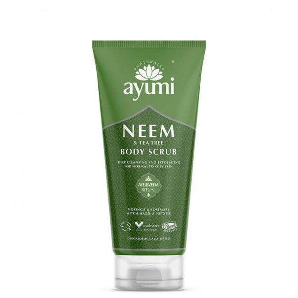 Exfoliant pentru corp cu Neem & Tea Tree, Ayumi, 200 ml