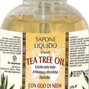 Sapun lichid vegetal hidratant cu ulei din arbore de ceai si ulei de neem, La Dispensa, 500 ml