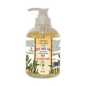 Sapun lichid vegetal hidratant cu ulei din arbore de ceai si ulei de neem, La Dispensa, 300 ml