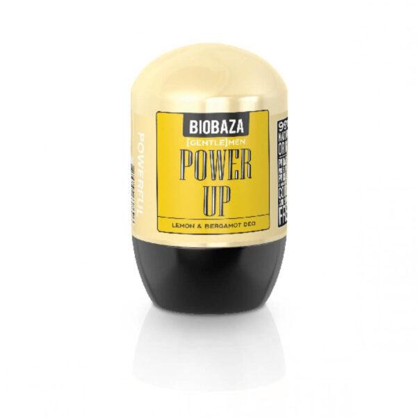 Deodorant natural barbati POWER UP (lamaie si bergamota), Biobaza, 50 ml