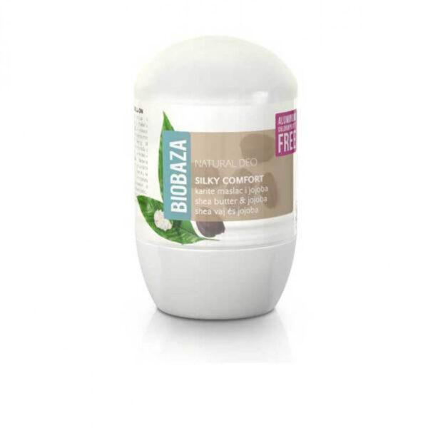 Deodorant natural pentru femei SILKY COMFORT (shea si jojoba), Biobaza, 50 ml