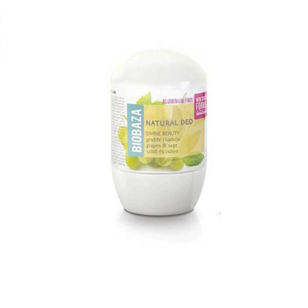 Deodorant cu bicarbonat piele sensibila DIVINE BEAUTY (salvie si struguri), Biobaza, 50 ml