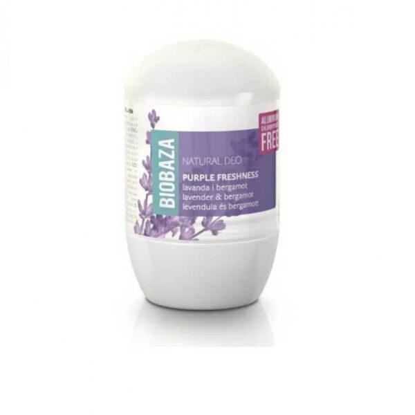 Deodorant natural pentru femei PURPLE FRESHNESS (lavanda si bergamota), Biobaza, 50 ml