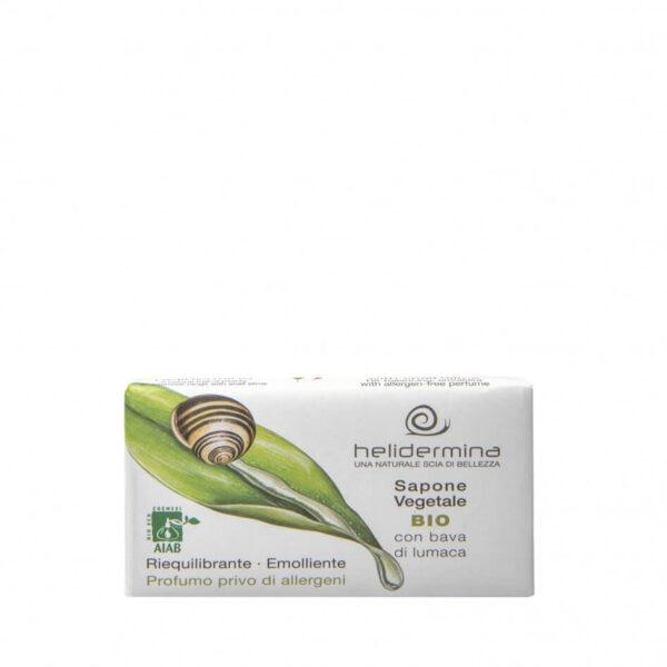 Sapun vegetal cu extract de melc Helidermina, 100 g La Dispensa