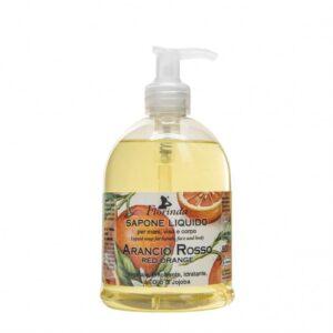 Sapun lichid vegetal hidratant cu portocale rosii si ulei de Jojoba, F...