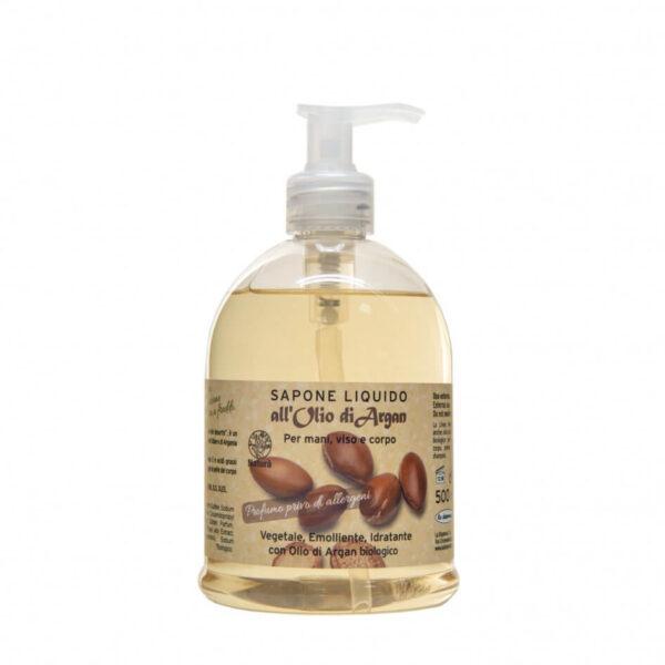 Sapun lichid vegetal hidratant si emolient cu ulei de argan, La Dispensa, 500 ml
