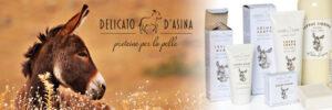 Linia de produse cosmetice BIO LA DISPENSA  DELICATO D'ASINA  cu lapte de magarita