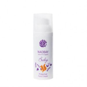 Crema de fata protectoare BIO pentru copii cu extracte organice de galbenele si musetel, Naobay, 100 ml