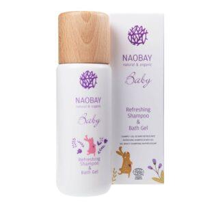 Sampon si gel de dus BIO hidratant cu extract de galbenele organic pentru copii, Naobay, 200 ml