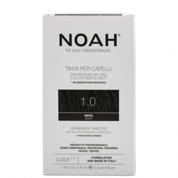 Vopsea de par naturala, Negru, 1.0, Noah, 140 ml