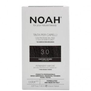 Vopsea de par naturala,Saten inchis, 3.0, Noah, 140 ml