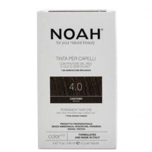 Vopsea de par naturala fara amoniac,Saten, 4.0, Noah, 140 ml