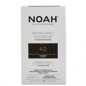 Vopsea de par naturala,Saten, 4.0, Noah, 140 ml