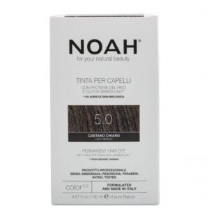 Vopsea de par naturala fara amoniac, Saten deschis 5.0, Noah, 140 ml