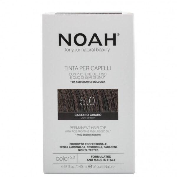 Vopsea de par naturala, 5.0, Saten deschis, Noah, 140 ml