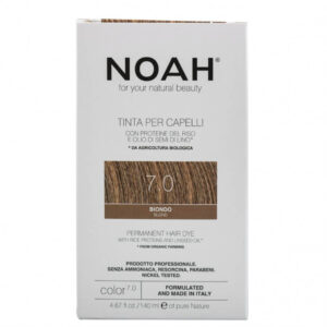 Vopsea de par naturala, Blond, 7.0, Noah, 140 ml
