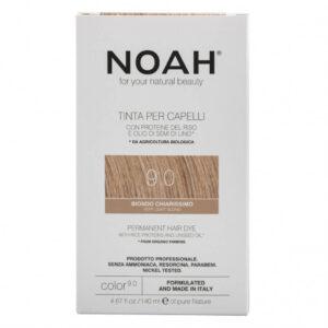 Vopsea de par naturala, Blond foarte deschis, 9.0, Noah, 140 ml
