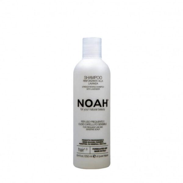 Sampon natural fortifiant cu lavanda pentru uz frecvent si scalp sensibil (1.3), Noah, 250 ml