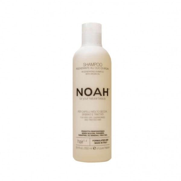 Sampon natural regenerant cu ulei de argan pentru par foarte uscat si tratat (1.4), Noah, 250 ml