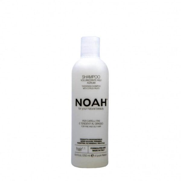 Sampon natural volumizant cu citrice pentru par fin si gras (1.1), Noah, 250 ml