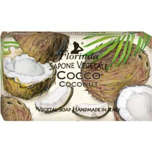 Sapun vegetal cu cocos Florinda, 100 g La Dispensa