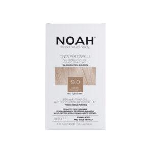 Vopsea de par naturala fara amoniac, Blond foarte deschis, 9.0, Noah, ...
