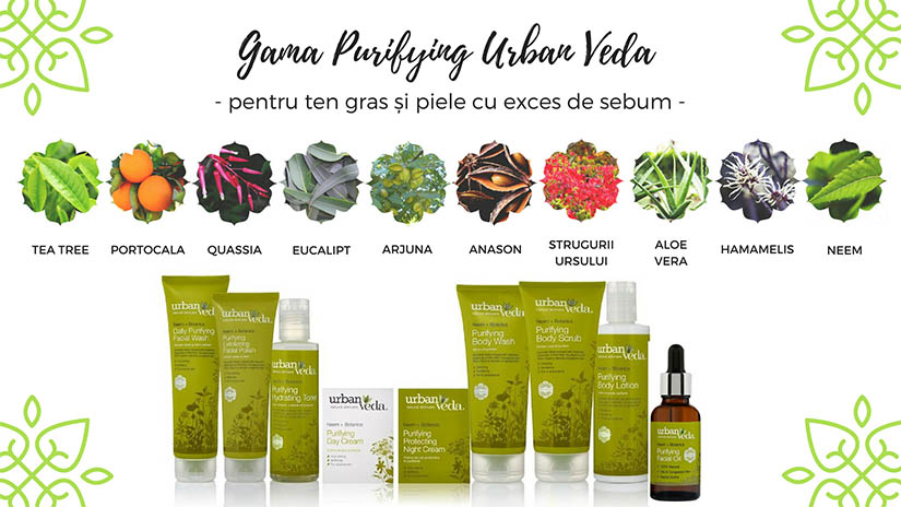Gama Purifying Urban Veda – tratament ayurvedic revigorant pentru ten gras si exces de sebum