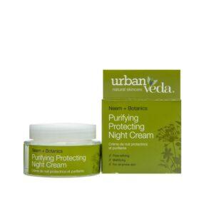 Crema de noapte protectiva cu ulei de neem- pentru ten gras, Purifying...