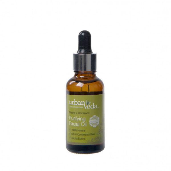 Ulei facial pentru ten gras, Purifying - Urban Veda, 30 ml