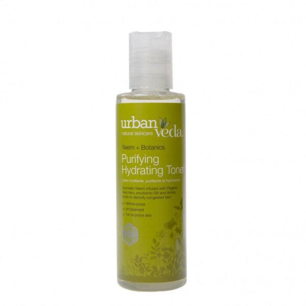 Lotiune tonica organica hidratanta cu extract de neem pentru ten gras, Purifying - Urban Veda, 150 ml