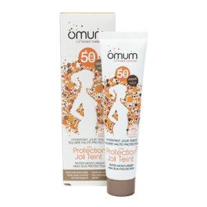 Crema de fata nuantatoare pentru protectie solara, SPF50, Ma Protection Joli Teint, Omum, 40ml