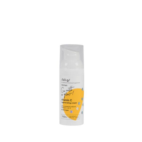 Crema de fata regeneranta cu vitanina C, KILIG WOMAN, 50 ML