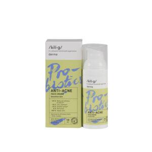 Crema de fata cu probiotice pentru ten sensibil si acneic, KILIG DERMA...