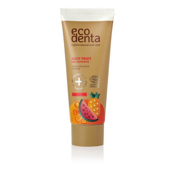 Pasta de dinti organica pentru copii cu suc de fructe, Ecodenta, 75 ml