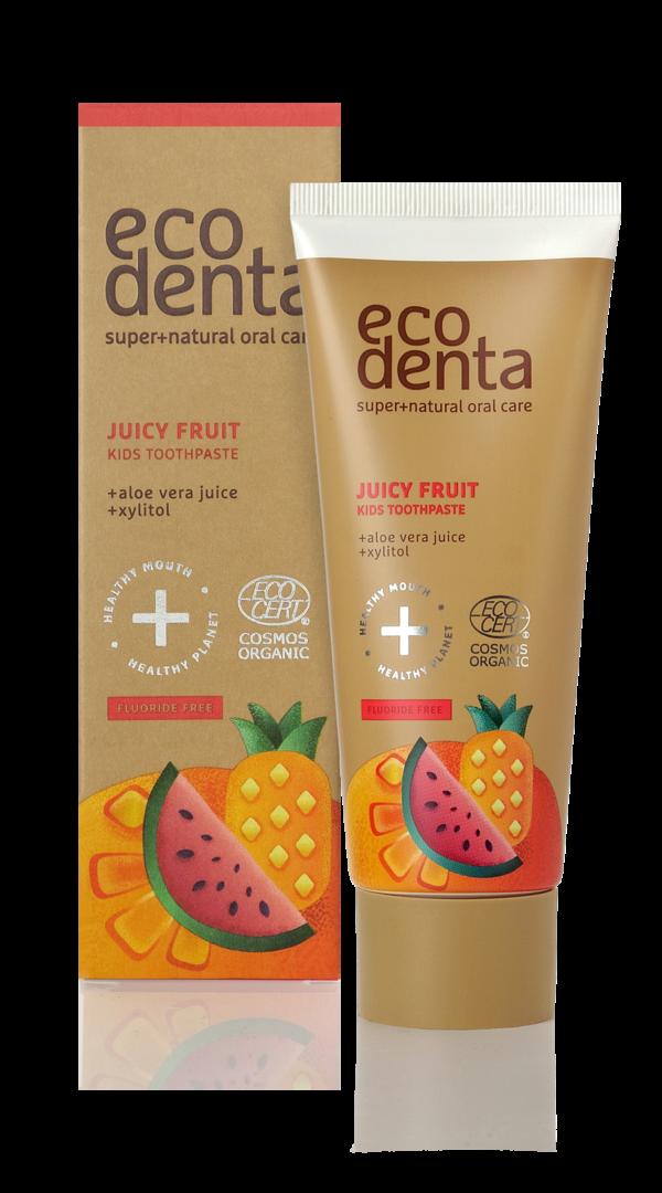 Pasta de dinti organica pentru copii cu suc de fructe, Cosmos Organic, Ecodenta, 75 ml