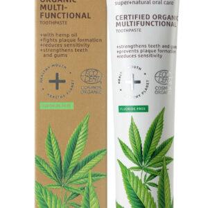 Pasta de dinti organica multifunctionala cu ulei de canepa, Ecodenta, ...