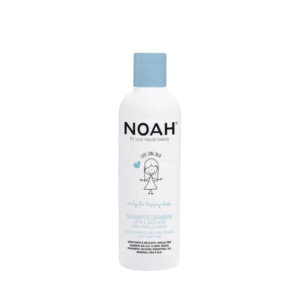 Sampon pentru copii cu lapre & zahar pentru par lung, Noah, 250 ml