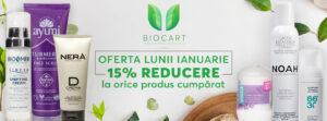 15% discount la toate produsele – Oferta lunii ianuarie