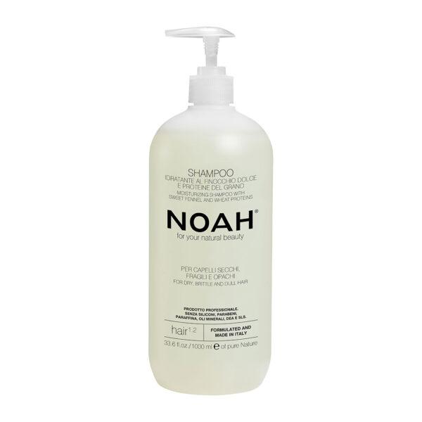 Sampon natural hidratant cu fenicul pentru par uscat, fragil si lipsit de stralucire (1.2), Noah, 1000 ml