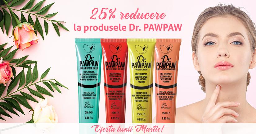 25% reducere pentru produsele Dr. PawPaw