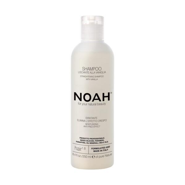 Sampon natural pentru indreptarea parului cu extract de vanilie,1.8, Noah, 250 ml