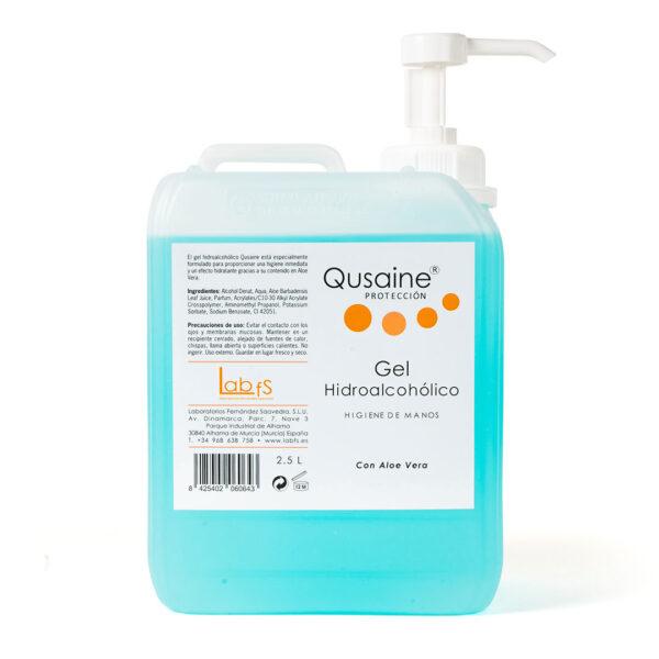 Gel dezinfectant pentru maini, Qusaine, 2500 ml