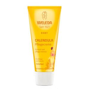 Crema de corp hidratanta cu galbenele, pentru copii, 75ml, Weleda