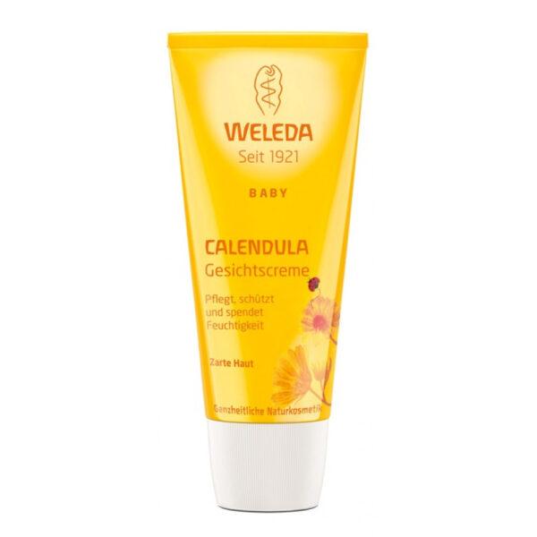 Crema faciala hidratanta cu galbenele, pentru copii, 50ml, Weleda